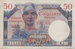 50 Francs Trésor Français FRANCE  1947 VF.31.01 pr.SUP
