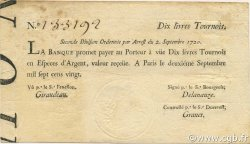 10 Livres Tournois typographié FRANCE  1720 Laf.095 pr.SUP