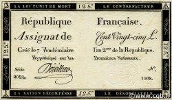 125 Livres FRANCE  1793 Laf.169 SUP+