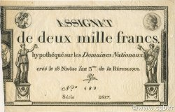 2000 Francs FRANCE  1795 Laf.176 SUP