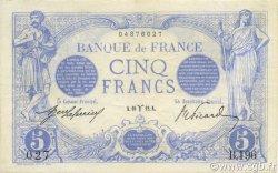 5 Francs BLEU FRANCE  1912 F.02.03 TTB à SUP