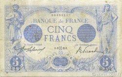 5 Francs BLEU FRANCE  1912 F.02.05 TB