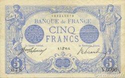 5 Francs BLEU FRANCE  1915 F.02.28 pr.SUP