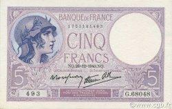 5 Francs VIOLET modifié FRANCE  1940 F.04.18 SPL