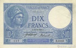10 Francs MINERVE FRANCE  1916 F.06.01 pr.SPL