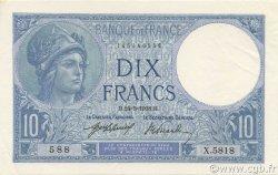 10 Francs MINERVE FRANCE  1918 F.06.03 SUP+