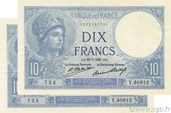 10 Francs MINERVE FRANCE  1927 F.06.12 SPL