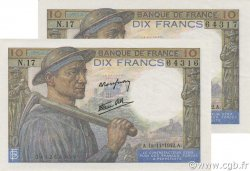 10 Francs MINEUR FRANCE  1942 F.08.05 SUP à SPL