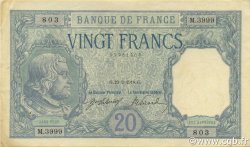 20 Francs BAYARD FRANCE  1918 F.11.03 pr.SUP
