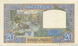 20 Francs SCIENCE ET TRAVAIL FRANCE  1940 F.12.07 pr.SUP
