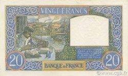 20 Francs SCIENCE ET TRAVAIL FRANCE  1941 F.12.12 SPL