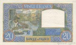 20 Francs SCIENCE ET TRAVAIL FRANCE  1941 F.12.13 SUP à SPL