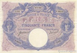 50 Francs BLEU ET ROSE FRANCE  1915 F.14.28 SUP