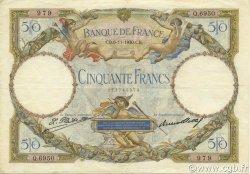 50 Francs LUC OLIVIER MERSON type modifié FRANCE  1930 F.16.01 TTB+