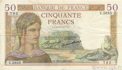 50 Francs CÉRÈS FRANCE  1937 F.17.36 SUP