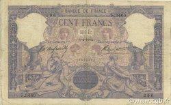 100 Francs BLEU ET ROSE FRANCE  1902 F.21.16 B+