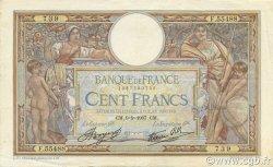 100 Francs LUC OLIVIER MERSON type modifié FRANCE  1937 F.25.01 TTB+