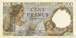 100 Francs SULLY FRANCE  1942 F.26.65 NEUF