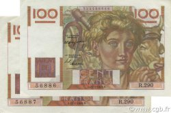 100 Francs JEUNE PAYSAN FRANCE  1949 F.28.21 SPL+