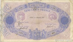 500 Francs BLEU ET ROSE FRANCE  1913 F.30.21 TB