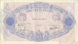 500 Francs BLEU ET ROSE modifié FRANCE  1939 F.31.31 TTB+