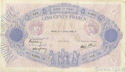 500 Francs BLEU ET ROSE modifié FRANCE  1940 F.31.56 TB+