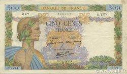 500 Francs LA PAIX FRANCE  1943 F.32.44 TTB