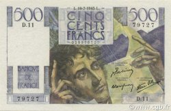 500 Francs CHATEAUBRIAND FRANCE  1945 F.34.01 pr.NEUF