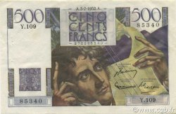 500 Francs CHATEAUBRIAND FRANCE  1952 F.34.09 SUP