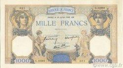 1000 Francs CÉRÈS ET MERCURE type modifié FRANCE  1940 F.38.50 SUP