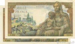 1000 Francs DÉESSE DÉMÉTER FRANCE  1942 F.40.03 SUP