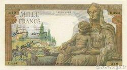 1000 Francs DÉESSE DÉMÉTER FRANCE  1943 F.40.17 SPL+