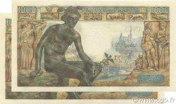 1000 Francs DÉESSE DÉMÉTER FRANCE  1943 F.40.27 pr.NEUF