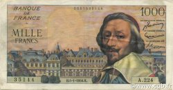 1000 Francs RICHELIEU FRANCE  1956 F.42.18 TTB+