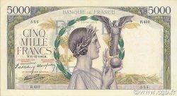 5000 Francs VICTOIRE Impression à plat FRANCE  1940 F.46.16 SUP+