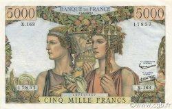 5000 Francs TERRE ET MER FRANCE  1957 F.48.14 SUP+