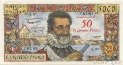 50 NF sur 5000 Francs HENRI IV FRANCE  1959 F.54.02 SPL
