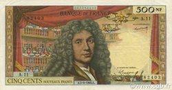 500 Nouveaux Francs MOLIÈRE FRANCE  1963 F.60.05 pr.SUP