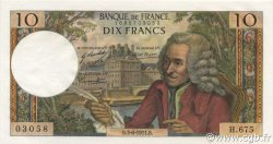 10 Francs VOLTAIRE FRANCE  1971 F.62.50 pr.NEUF