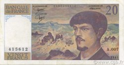 20 Francs DEBUSSY FRANCE  1981 F.66.02-A7 pr.SUP
