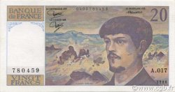 20 Francs DEBUSSY FRANCE  1986 F.66.07 SUP+