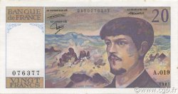 20 Francs DEBUSSY FRANCE  1987 F.66.08 SUP
