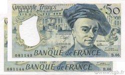 50 Francs QUENTIN DE LA TOUR FRANCE  1991 F.67.17 SUP à SPL