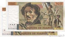 100 Francs DELACROIX modifié FRANCE  1985 F.69.09 SUP+