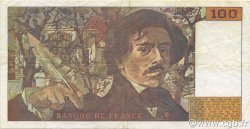 100 Francs DELACROIX imprimé en continu FRANCE  1990 F.69bis.02e2 TTB