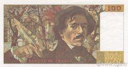 100 Francs DELACROIX imprimé en continu FRANCE  1991 F.69bis.03a1 SUP+