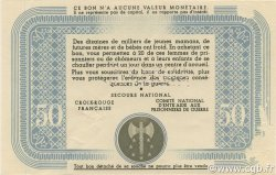 50 Francs BON DE SOLIDARITÉ FRANCE régionalisme et divers  1941 KL.09As SPL