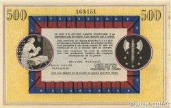 500 Francs BON DE SOLIDARITÉ FRANCE régionalisme et divers  1941 KL.11As SPL+