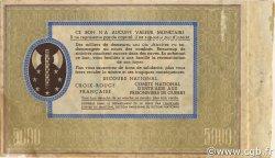 5000 Francs BON DE SOLIDARITÉ FRANCE régionalisme et divers  1941 KL.13Bs TTB+