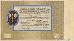 5000 Francs BON DE SOLIDARITÉ FRANCE régionalisme et divers  1941 KL.13Bs SPL